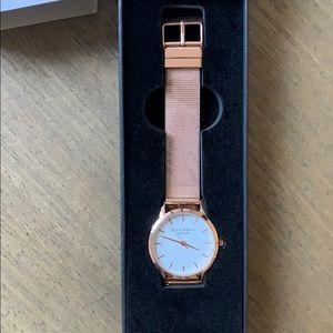 New in box Eddie Borgo rose gold watch